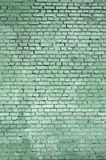 Kwadratowy cegła bloku ściany tło i tekstura Malujący w zieleni zdjęcia royalty free