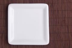 Kwadratowy ceramiczny talerz Fotografia Stock