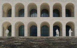 Kwadratowy Colosseum przy Eur, Rzym Obrazy Royalty Free
