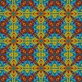 Kwadratowy etniczny bezszwowy wektoru wzór Obraz Royalty Free