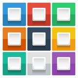 Kwadratowy ewidencyjny graficzny szablon na koloru tle Fotografia Stock