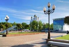 kwadratowy Kaliningrad katedralny zwycięstwo Zdjęcie Stock