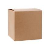 Kwadratowy Kartonowy prezenta pudełko zdjęcie stock