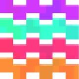 Kwadratowy kolorowy wzór Zdjęcia Stock