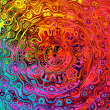 Kwadratowy kształta wizerunek Unikalny kolorowy wzór Artystyczny graficzny pojęcie Sztuki ilustraci ekran komputerowy tła koloru  royalty ilustracja