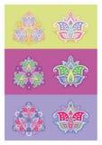 Kwadratowy piękny mandala royalty ilustracja
