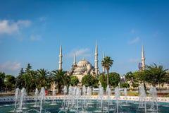 Kwadratowy pobliski sułtanu Ahmet meczet lub Błękitny meczet Istanbuł, Turcja Zdjęcie Stock