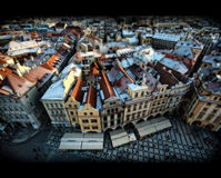 kwadratowy Prague stary miasteczko Zdjęcia Royalty Free
