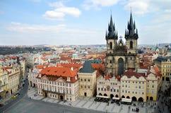 kwadratowy Prague stary miasteczko Obraz Stock