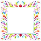 Kwadratowy sztandar Zdjęcie Royalty Free