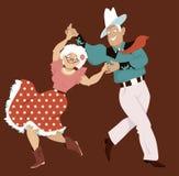 Kwadratowy taniec ilustracji