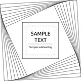 Kwadratowy vortex karty sztandar Ilustracji