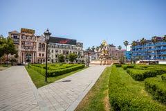 Kwadratowy widok z Neptune fontanną w Batumi, Gruzja - 14 05 201 Zdjęcie Stock