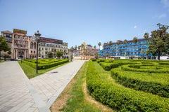 Kwadratowy widok z Neptune fontanną w Batumi, Gruzja - 14 05 201 Zdjęcie Royalty Free
