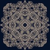 Kwadratowy wzór w orientalnym stylu Może używać dla dekorować tex royalty ilustracja