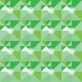 Kwadratowy zielony geometrical abstrakta wzór Zdjęcie Stock
