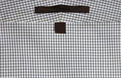 Kwadraty Deseniują Smokingowej koszula etykietki Obrazy Stock