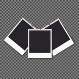 Kwadraty obramiają szablon z cień odizolowywającą wektor ustaloną kolekcją - wektor zdjęcie stock
