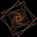 Kwadraty Ruszać się po spirali Świętą geometrii ilustrację Fotografia Royalty Free