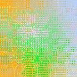 Kwadraty w rocznika stylu na lekkim tle Abstrakcjonistyczny bokeh tło w zieleni, pomarańcze i bielu dla, druku lub pustego miejsc royalty ilustracja