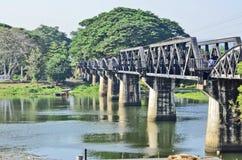 kwae河桥梁  库存照片