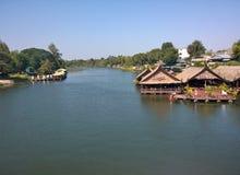KwaeNoi河 kanchanaburi泰国 免版税图库摄影