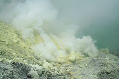 Kwah Ijen crater - Java Stock Image