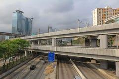 Kwai Chung Road, highway at hong kong Royalty Free Stock Image