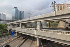 Kwai Chung Road, highway at hong kong Stock Photography