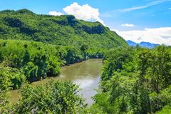 Kwai-noi Mountain&River Στοκ εικόνες με δικαίωμα ελεύθερης χρήσης