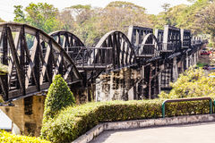 Kwai River Bridge Royalty Free Stock Images