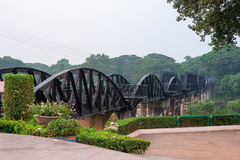 Kwai River Bridge, an old historical building Royalty Free Stock Photo