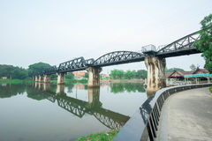 Kwai River Bridge, an old historical building Stock Image
