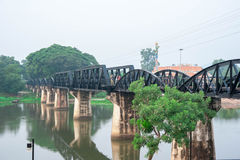Kwai River Bridge, an old historical building Royalty Free Stock Photography