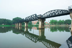 Kwai River Bridge, an old historical building Stock Photos