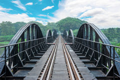 Kwai River Bridge, an old historical building Royalty Free Stock Image