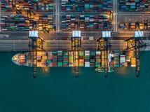 Kwai Tsing Container Terminals royalty-vrije stock afbeeldingen