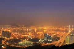 Kwai Tsing Container Terminals en Hong Kong Fotos de archivo libres de regalías