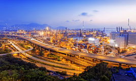 Kwai Tsing Container Terminals Royalty Free Stock Images
