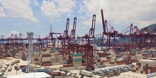 Kwai Tsing Container Terminals in Hong Kong Royalty Free Stock Image