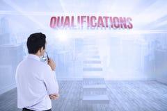 Kwalifikacje przeciw miasto scenie w pokoju Zdjęcie Royalty Free