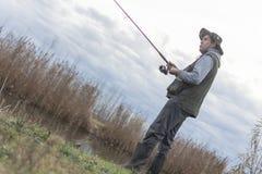 Kwaliteit visserijtijd Stock Foto's
