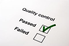 Kwaliteitsbeheersing - ja Stock Foto's