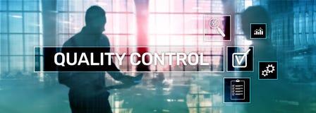 Kwaliteitscontrole en verzekering normalisatie waarborg normen Bedrijfs en technologieconcept stock illustratie
