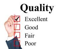 Kwaliteitsevaluatievorm stock afbeeldingen