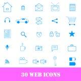 30 kwaliteitspictogrammen voor Web Stock Afbeelding