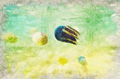 kwallen Marine Life-koraalrif onderwater Digitaal Art Impast vector illustratie