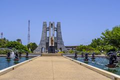 Kwame Nkrumah Memorial Park immagine stock
