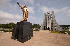 Kwame Nkrumah Memorial Park. (KNMP) is a National Park in, Accra, Ghana named after Osagyefo Dr. Kwame Nkrumah, the founding father of Ghana. It is also a Royalty Free Stock Photography