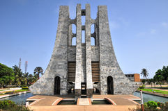 Kwame Nkrumah Memorial Park - Accra, Ghana Fotografia Stock Libera da Diritti